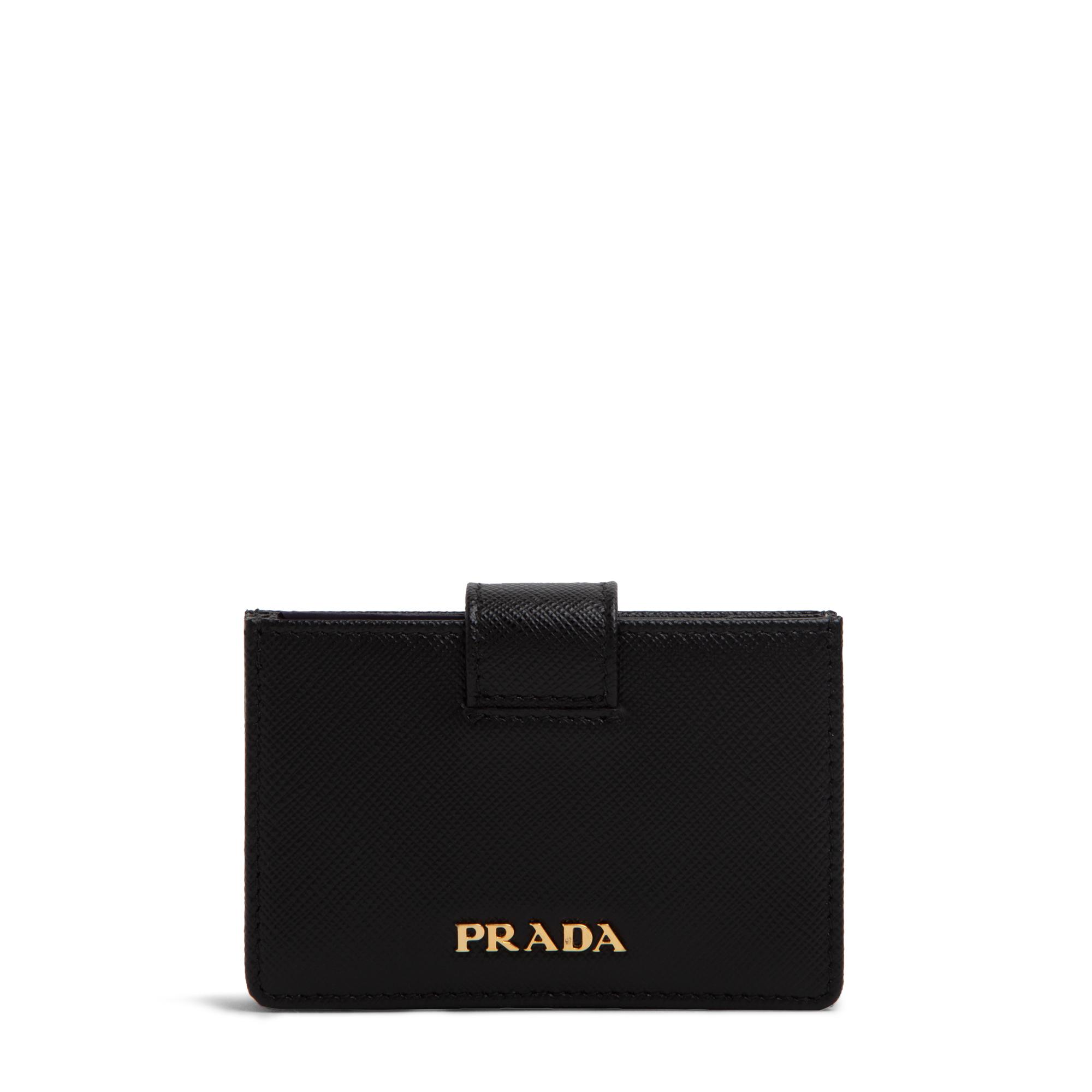 Saffiano leather card holder