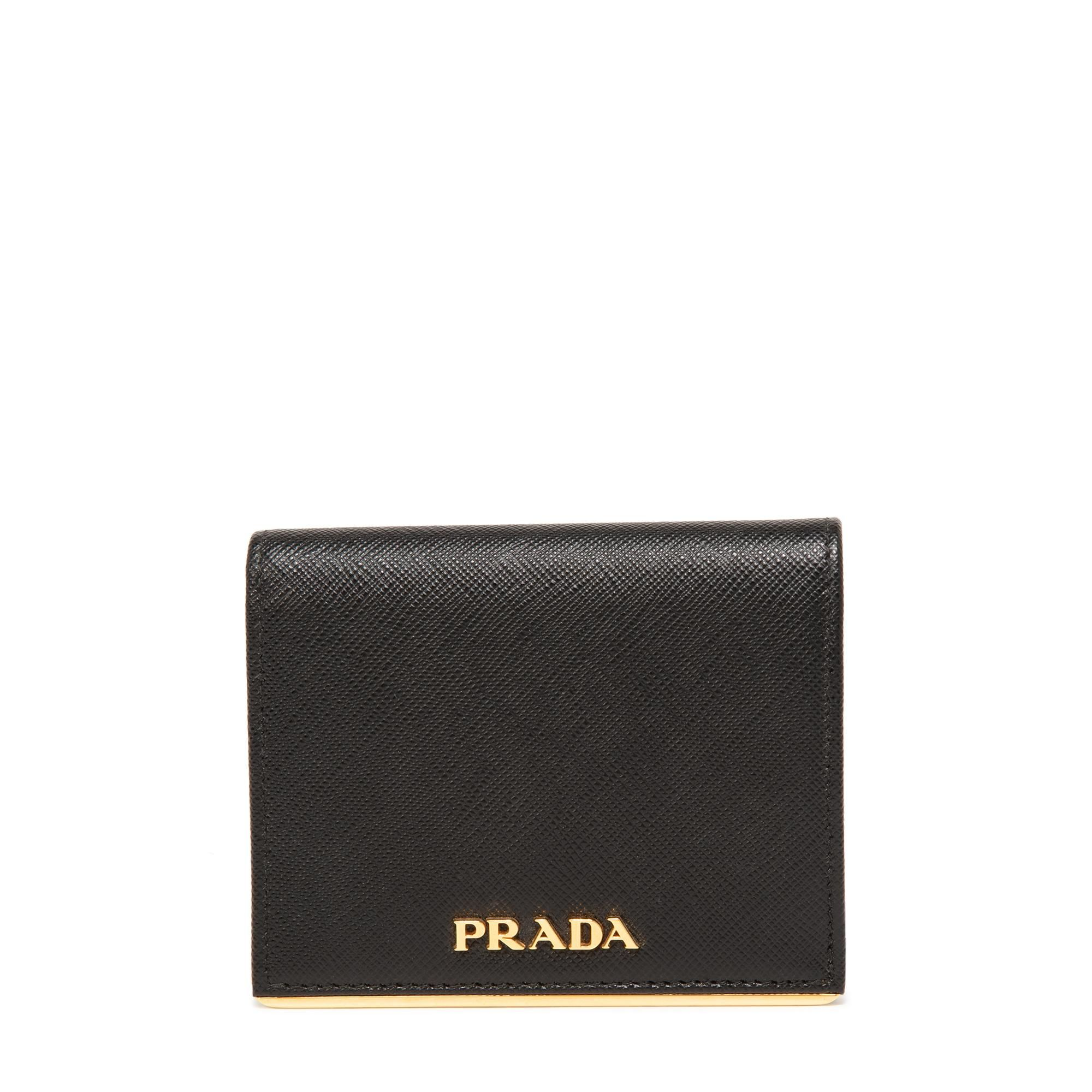 Saffiano leather small wallet