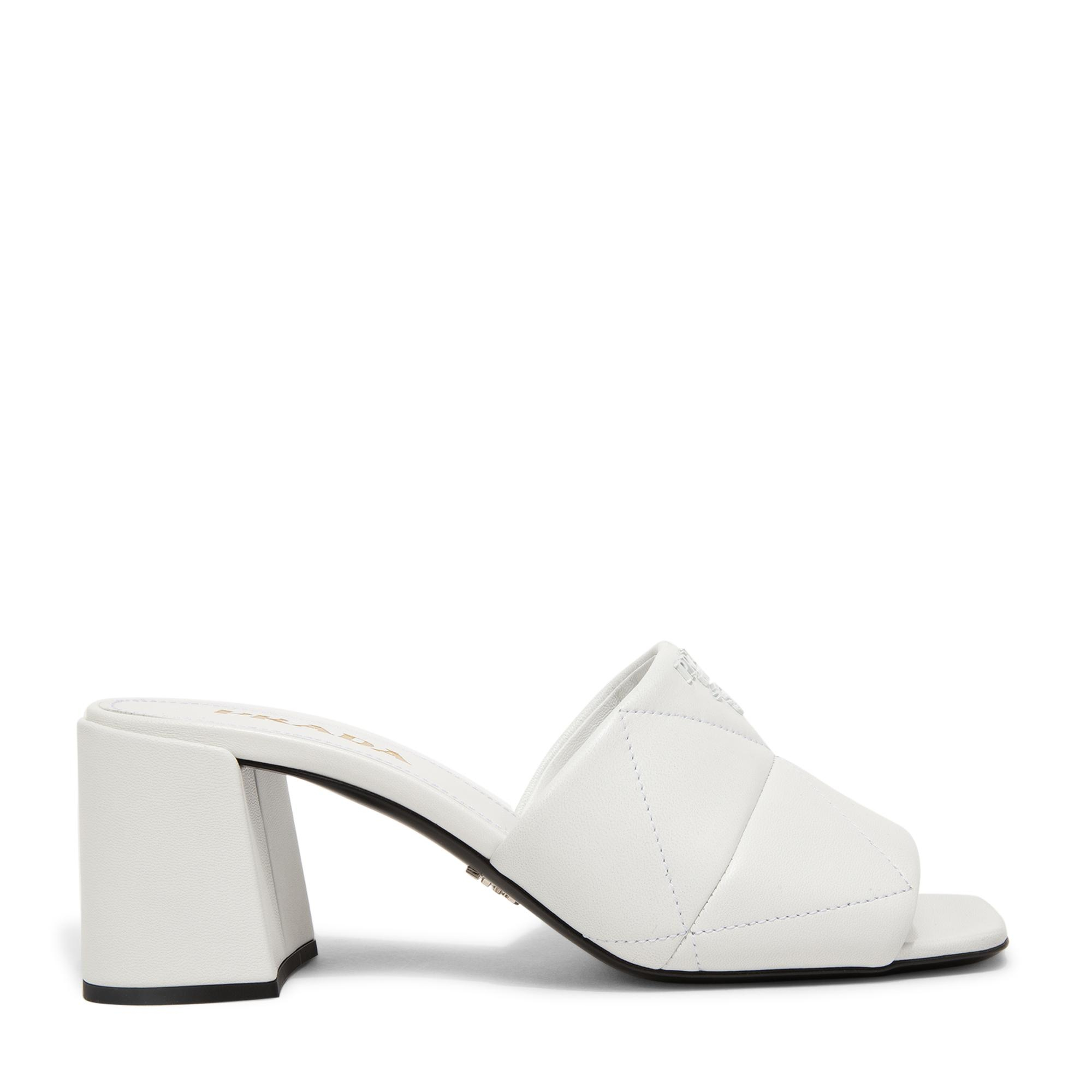 Quilted nappa leather sandals