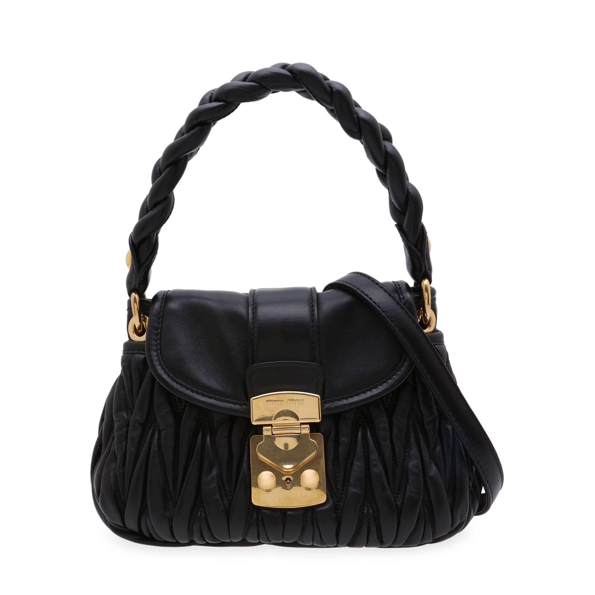 Matelassé leather handbag