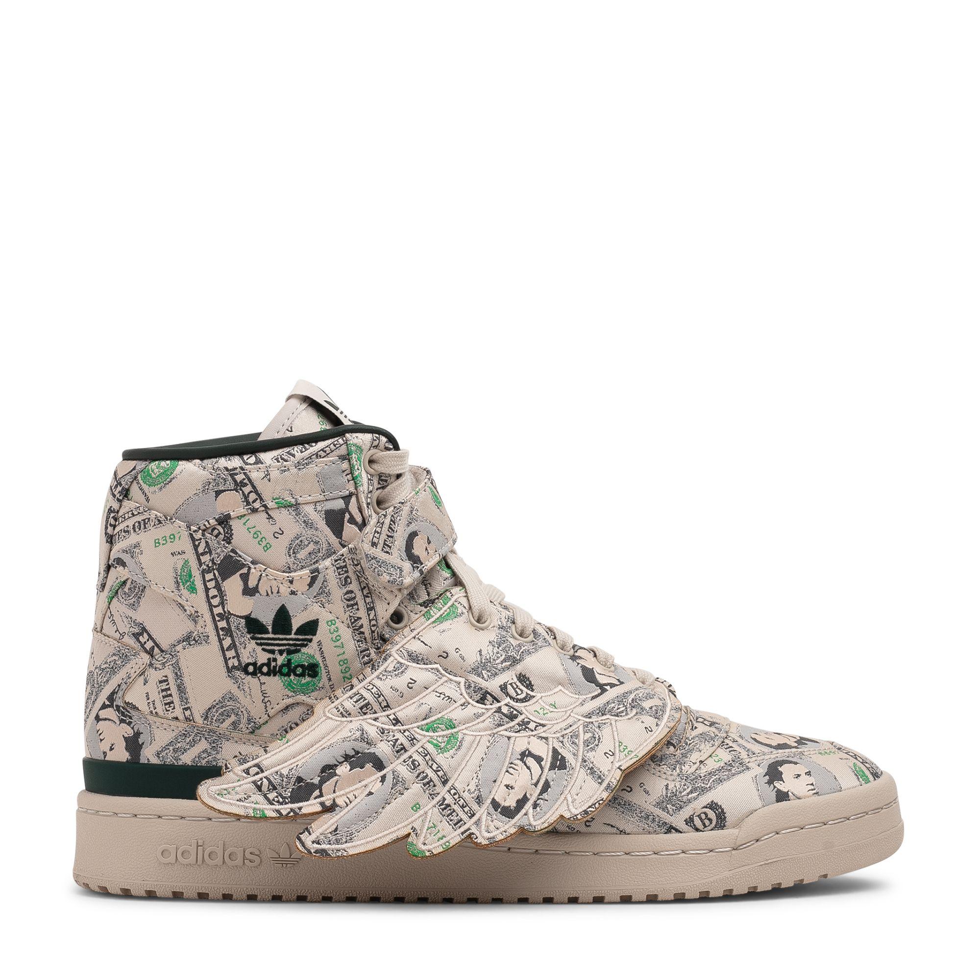 x Jeremy Scott Forum Wings 1.0 Money sneakers