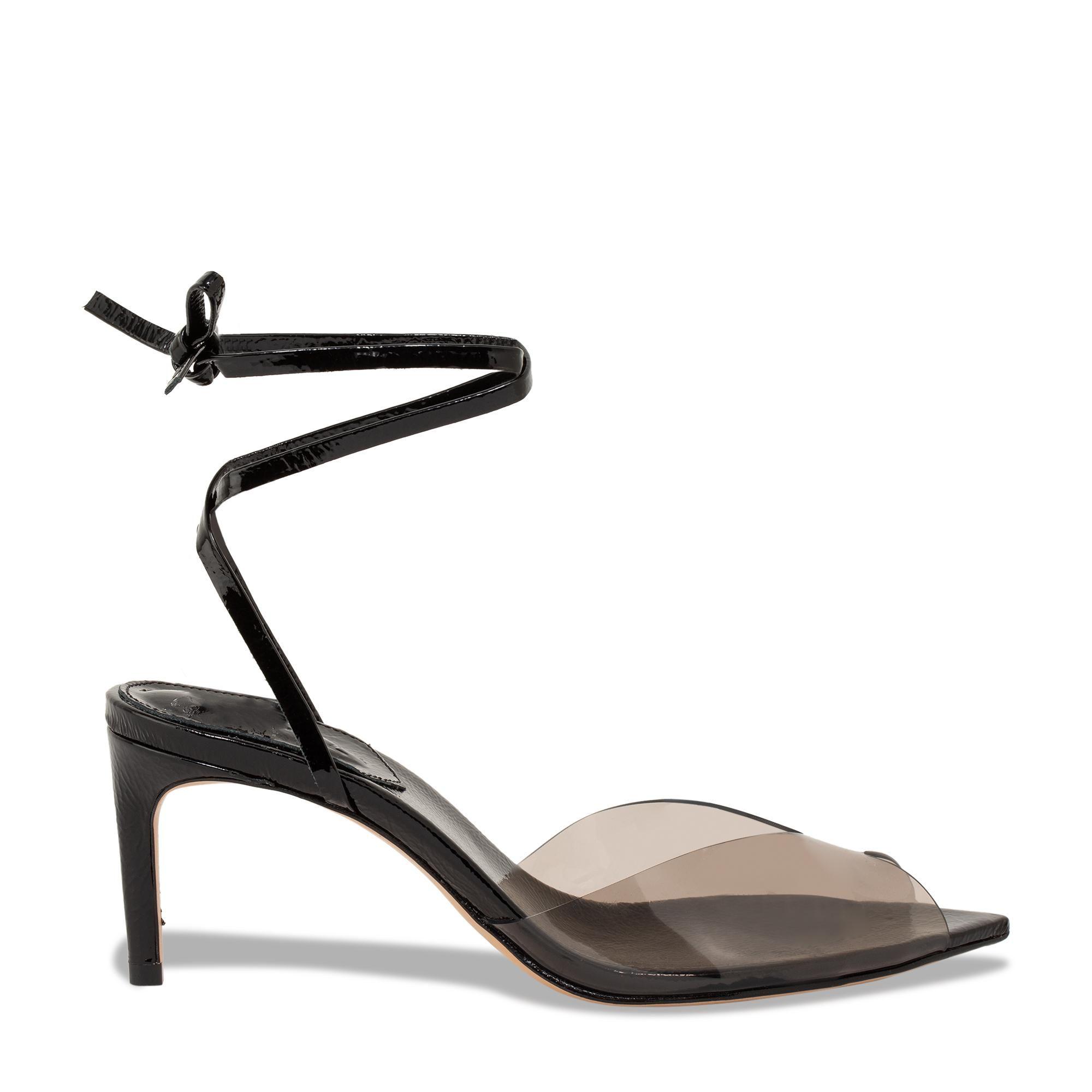 Leather tie sandals